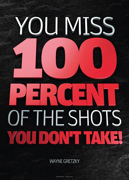 Poster wayne gretzky - you miss 100 percent